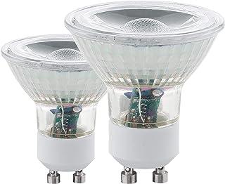 Eglo 11475–Juego de 2bombillas LED GU10COB 3000K 3,3W 240lumens blanco cálido