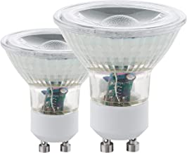Eglo Light Bulbs, Set of 2, GU10, LED, COB, 3000 K, 3.3 W, 240 Lumen, Warm White