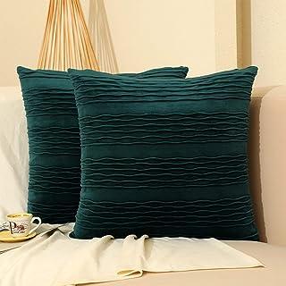 Green Striped Throw Pillows Bedding Home Kitchen
