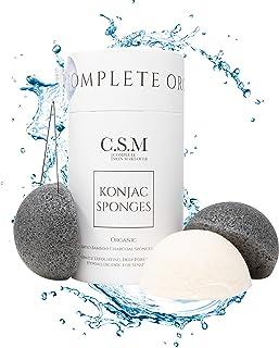CSM Organic Konjac Sponges 3-Pack para una exfoliación