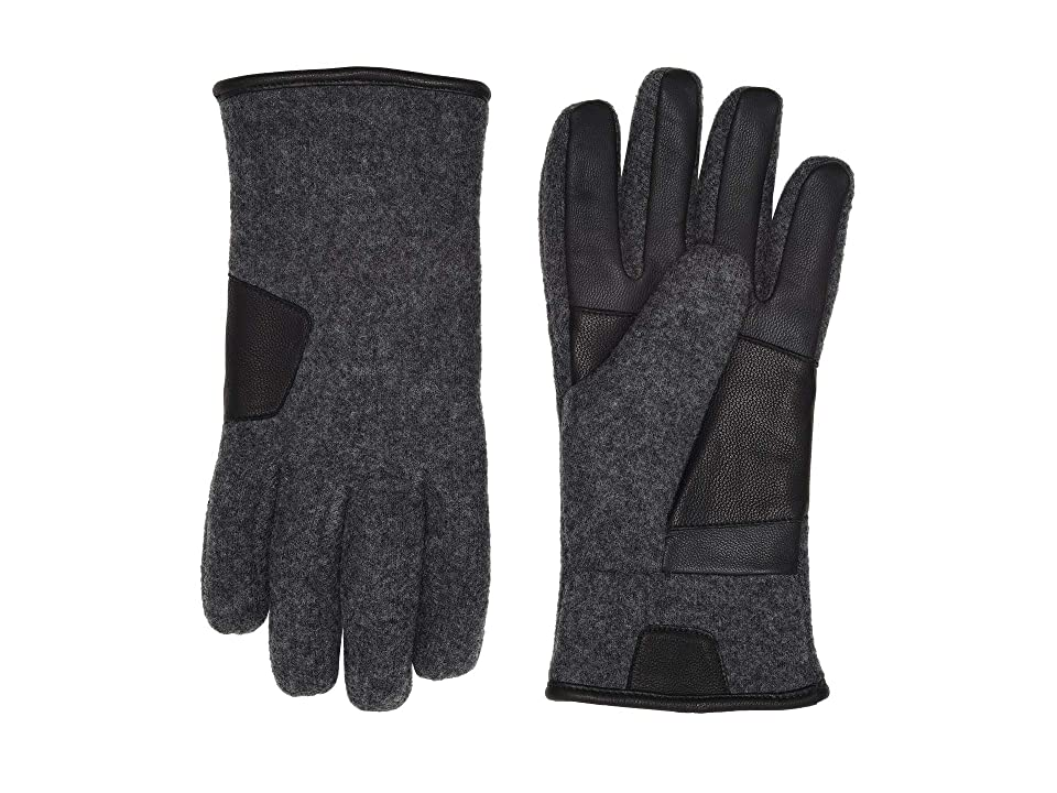 UGG Fabric Leather Tech Gloves (Charcoal) Extreme Cold Weather Gloves