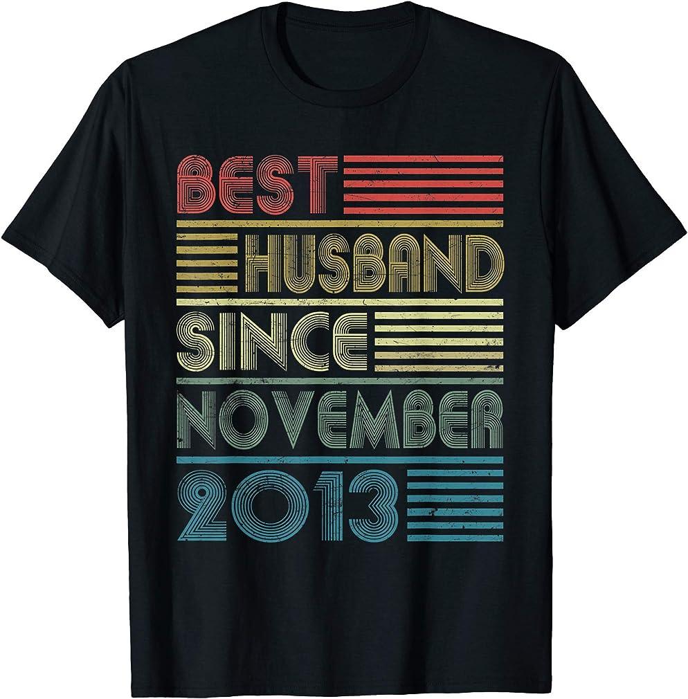 6th Wedding Anniversary - Best Husband Since November 2013 T-shirt
