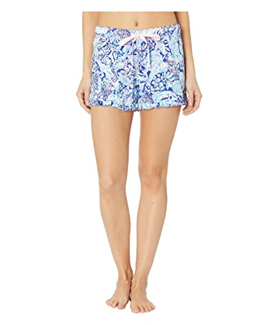 Lilly Pulitzer Ruffle PJ Knit Shorts (Royal Purple 60 Animals) Women