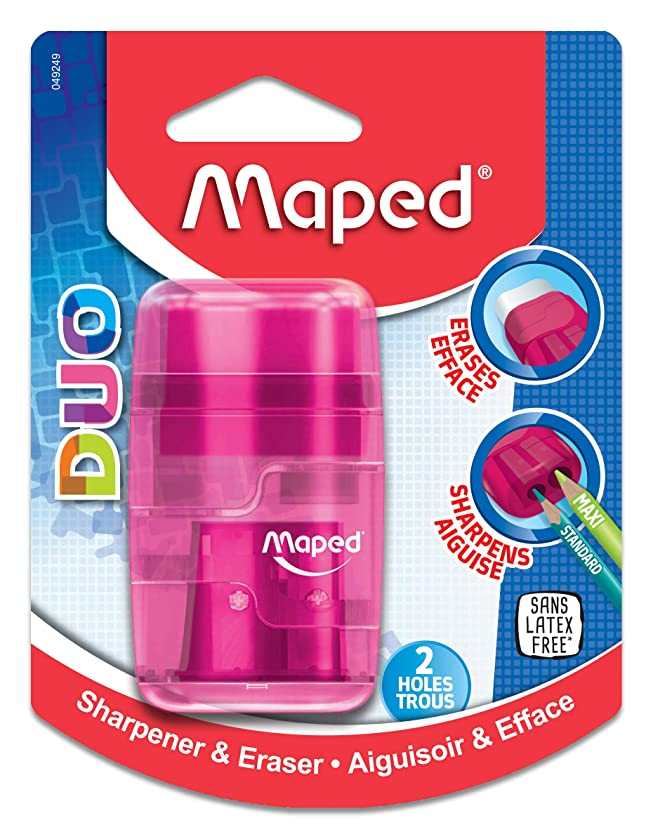 Maped Connect DUO 2 Hole Sharpener / Eraser (049249)