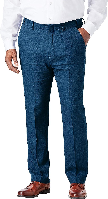 KingSize KS Island Men's Big & Tall Linen Blend Plain Front Dress Pants