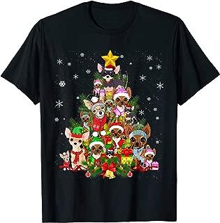 Chihuahua Christmas Tree T Shirt Xmas Gift For Chihuahua Dog T-Shirt