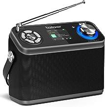 Bomaker DAB/DAB+/FM Radio 40 Presets, tragbares Digitalradio mit Farb-Birdschirm,12..