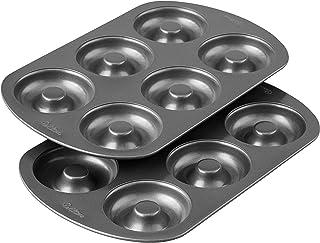 Wilton Non-Stick 6-Cavity Donut Baking Pans 2 Pack 2105-1620