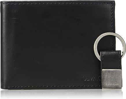 Calvin Klein男士皮革折叠钱包 带钥匙扣