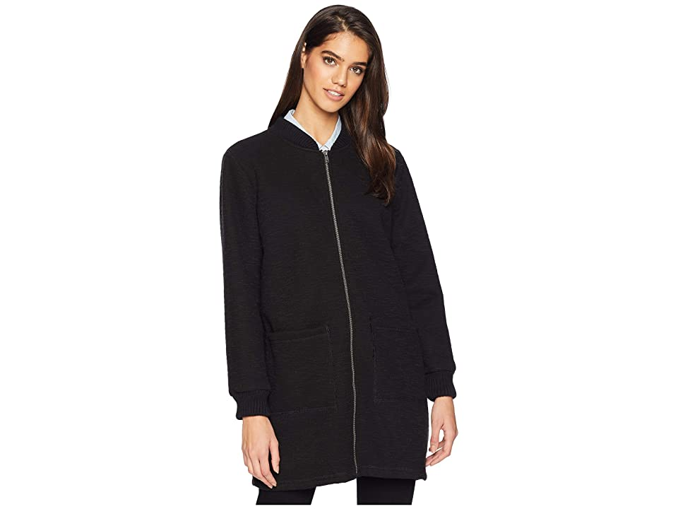 Cupcakes and Cashmere Bill Knit Bonded Jacket (Black) Women