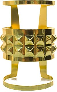 Jacobson Hat Company Metal Gold Tone Egyptian Style Queens Cuff Bracelet
