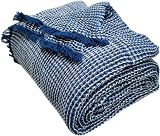 VK Living 100% Cotton Waffle Weave Blanket - Soft Comfortable Breathable and Moisture Absorption for Home Decoration-Perfe...