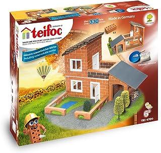 Teifoc Teifoc-T4700 Piedra Bloques Villa con Garaje, Color Multicolor with Garage (Eichsfelder Technik eitech GmbH 4700), T4700