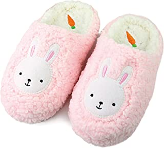 Komyufa Women Fur House Slippers Cozy Animal Home Slipper Fuzzy Bedroom Shoes Indoor Outdoor