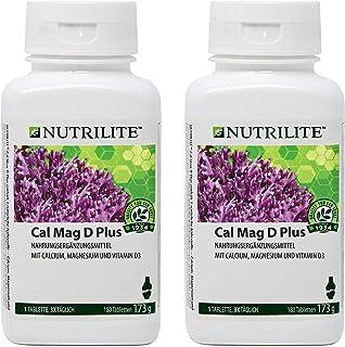 Cal Mag D Plus NUTRILITE Pack 2 x 180 comprimidos para 4 meses - Cal Mag D Plus NUTRILITE contiene tres nutrientes naturales: calcio. magnesio y vitamina D.