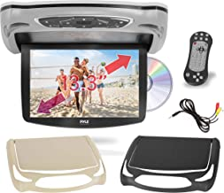 Car Roof Mount DVD Player Monitor 13.3 inch Vehicle Flip Down Overhead Screen- HDMI SD USB Card Input with Built-in IR Tra...