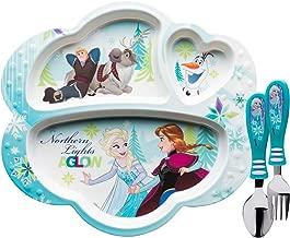 Zak Designs - Mantel individual, diseño de Elsa, Anna y Olaf de Frozen, plástico sin BPA, Lonchera de plástico reciclado, Anna Elsa Olaf, 1