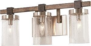 Minka Lavery Wall Light Fixtures 4633-106 Bridlewood Bath Vanity Lighting, 3-Light 180 Watts, Stone Grey