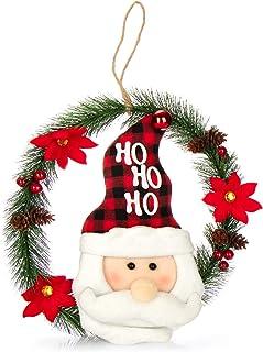 Guirnalda Decorativa para la Navidad com-four/® Guirnalda con car/ámbano 2,7 m Color Dorado Guirnalda de car/ámbano Guirnalda de Navidad para los Adornos del /árbol de Navidad