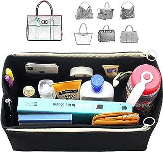 [Fits Mul.berry Bags] Felt Tote Organizer (w/Double Zipper Pockets), Bag in Bag, Wool Purse Insert, Customized Tote Organize, Cosmetic Makeup Diaper Handbag