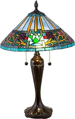 Dale Tiffany TT18341 Amada Tiffany Table Lamp, Fieldstone
