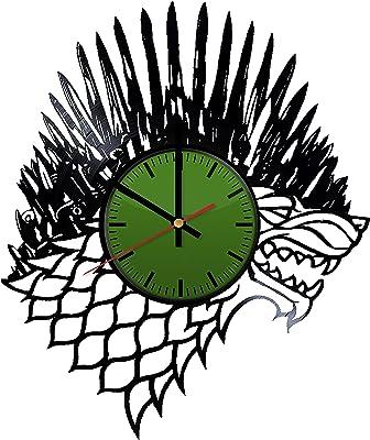 Amazon Com Infinity Instruments Satellite Clock Walnut Home Kitchen