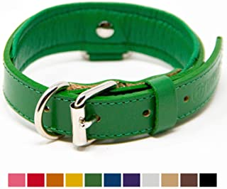 Logical Leather Deluxe Padded Genuine Full Grain Leather Collar