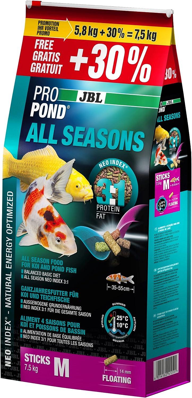 JBL Pro Pond All Seasons Food Sticks for Koi and Pond Fish M KG. 7.5