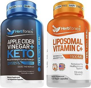 Apple Cider Vinegar Plus Keto BhB Salts with Liposomal Vitamin C Bundle