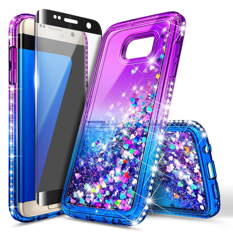 samsung edge 6 phone case amazon comgalaxy s6 edge case w [full cover screen protector premium clear], nagebee