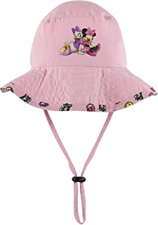 Disney Minnie and Mickey Girls and Boys Sun Boonie Hat - 100% Cotton (Pink)