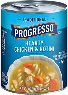 Progresso Soup, Traditional, Hearty Chicken & Rotini Soup, 19 oz Can