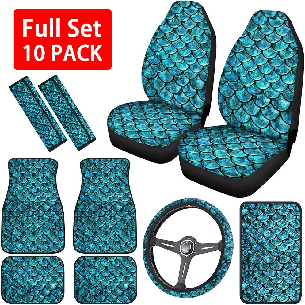 Horeset Mermaid Pattern Car Accessories Max 58% OFF Cover for Ranking TOP7 Women Seat