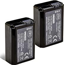 BM Premium 2 NP-FW50 Batteries for Sony A6100, A6400, DSC-RX10 IV, DSC-RX10 III, DSC-RX10 II, DSC-RX10, Alpha 7, Alpha 7R, a7, a7R, a7R II, a7S, a7S II, a3000, a5000, a5100, a6000, a6300, a6500