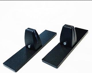パーテーション 2個セット 固定金具 改良T型 挟み込み 台座 六角レンチ付属 ゴム足付き クランプ クリップ 土台 ベース デスク テーブル 机 取り付け/ブラック