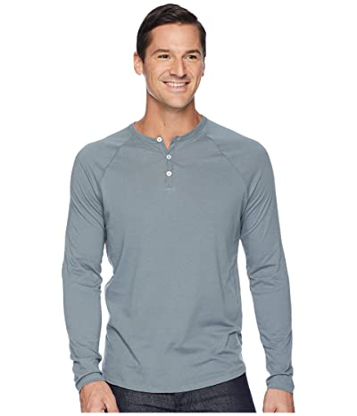 Alternative Organic Long Sleeve Raglan Henley (Earth Ocean) Men