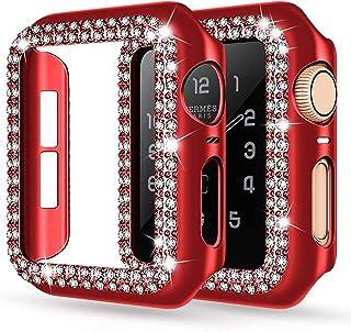 ZAALFC Cubierta de la Caja del Protector de Pantalla PC para Apple Watch 6 SE 5 4 44mm 40mm Funda para Parachoques para iW...