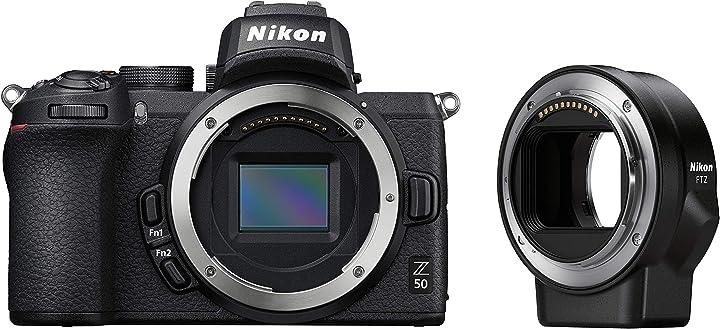 Fotocamera mirrorless nikon z50 body + ftz + lexar sd 64gb 667x pro VOA050K003
