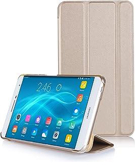Huawei Mediapad T2 8.0 proケース,【IVSO】Huawei Mediapad T2 8.0 pro上質カバー スタンド機能 半透明PC + PUレザー ケース - Huawei Mediapad T2 8.0 pro専用上質ケース 超薄型 最軽量(ゴールド)