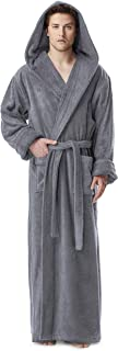Men's Hood'n Full Ankle Length Hooded Turkish Cotton Bathrobe