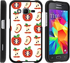 MINITURTLE Case Compatible w/ Samsung Core Prime Case, Armor Snap On Hard Case Protector Cover w/ Customized Design for Samsung Galaxy Core Prime G360 (Boost Mobile) Apples Pattern