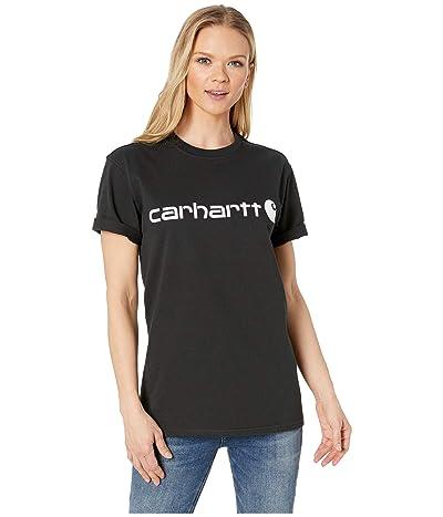 Carhartt WK195 Workwear Logo Short Sleeve T-Shirt (Black) Women