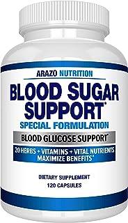 Blood Sugar Support Supplement - 20 Herbs & Multivitamin for Blood Sugar Control with Alpha Lipoic Acid & Cinnamon - 120 P...