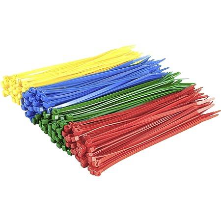 Gocableties Kabelbinder 200 Mm X 4 8 Mm Hochwertig Stabil Nylon Rot Grün Blau Und Gelb 200 Stück Mehrfarbig Baumarkt