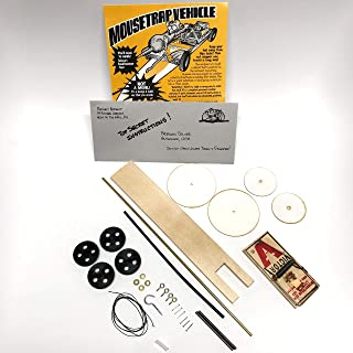 Mousetrap Vehicle Car Kits (Bulk Pack of 12 Kits) - Project Kits for Building a Mousetrap Car - Create - Race - Compete Using Your Own Fast Mousetrap Car - Great for Student Classroom Projects