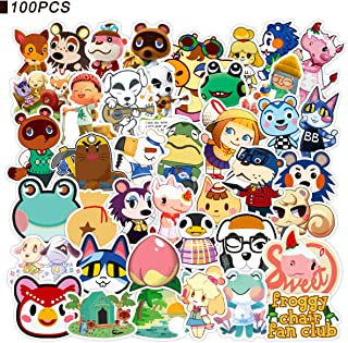 Animal Crossing Stickers - CHANGHUI 100pcs Cool Game Stickers for Water Bottles Waterproof and Perfect for Laptop Hydroflask Car Phone