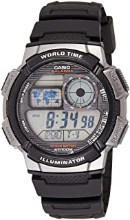 ساعة يد ستاندرد رقمية بسوار من الراتنج للرجال من كاسيو