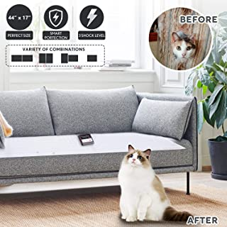 Upgraded Pet Scat Cat Mat,Pet Training Shock Mat for Dogs Cats Indoor Outdoor,Multi Pieces Adjustable Shape,Keep Dog Off Furniture Sofa Couch,Smart Safe Protection System,Anti Shedding Metal Wires