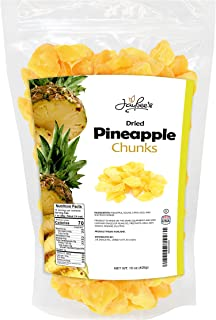 Jaybee's Nuts and Dried Fruits - Sweet Dried Pineapple Chunks Tidbits 15 oz - Tasty Tropical Dry Fruit Snacks, Resealable ...