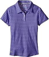 adidas Golf Kids - Essential Cotton Hand Stripe Polo (Big Kids)